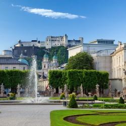 Stadt Salzburg mit der Festung Hohenwerfen